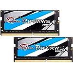 G.Skill 16GB 2666MHz DDR4 SO-DIMM 笔记本电脑内存*套件 (CL19) 1.20V PC4-21300 Ripjaws 2x8GB