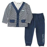 Calvin Klein 婴儿男孩2PC 裤子套装与背心