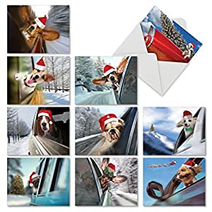MP-XSMN-Dog1 狗 1 个圣诞迷你记事卡套装 *佳卡公司假日文具