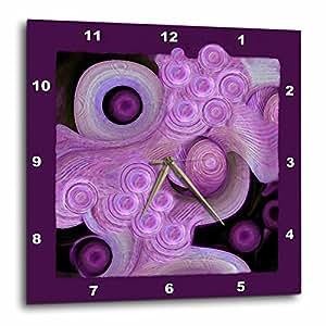 DPP _ 27619jaclinart 抽象 surreal 贝壳海洋 WAVE 海滩海洋 ISLAND–抽象紫色海洋泡沫波浪和贝壳 ON 紫色背景–挂钟