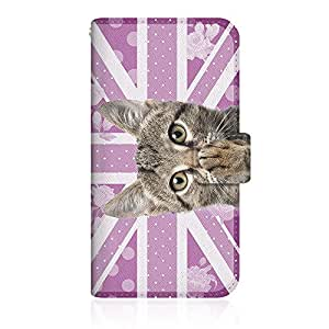 CaseMarket x NYAGO 【手册式】 apple iPhone 6s (4.7inch) iPhone6s 超薄壳 针脚模型 [ NYAGO 笔记本 可爱 把肉球涂抹起来吧~ 猫咪 英国国旗 箭头~ 粉色] 皮革手册 缝合&挂绳孔iPhone6s-VNG2S2432 紫色