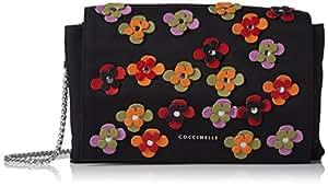 Coccinelle 女式 伊莉斯之花单肩斜挎包 E1 AA8 12 01 02-335 黑色/多色 均码(亚马逊进口直采,意大利品牌)