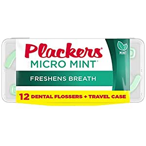 Plackers flosser 带便携盒,薄荷绿,12支
