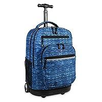 J World New York Sundance LAPTOP 上学和旅行滚动背包,50.8 厘米 水位线 均码