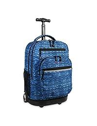 杰华德 RBS拉杆背包系列 中性 潮撞色学生背包双肩包防水拉杆旅行包 GEO BLUE RBS-19(亚马逊自营商品, 由供应商配送)