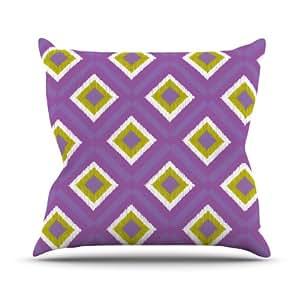 Kess InHouse Nicole Ketchum 瓷砖室内/室外抱枕 18 x 18 英寸(长x宽) 紫色 NK1022AOP03