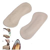 J.C Arts Shoes 皮革填充鞋跟手柄舒适贴合 - 4 件 适合男士和女士 x2022;防滑脚后跟 x2022;自粘鞋跟手柄