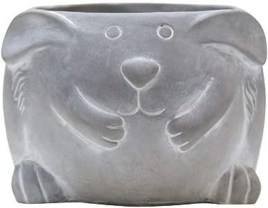 动物水泥迷你花盆 12.7 cm D 71198 灰色