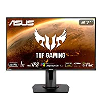 ASUS 华硕 TUF Gaming VG279QM HDR 游戏显示器 – 27 英寸全高清(1920 x 1080),Fast IPS,280Hz,1ms (GTG),极低运动模糊同步,G-SYNC 兼容,DisplayHDR? 400