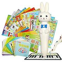 学立佳儿童早教点读笔 USB充电宝宝有声点读学习笔 婴儿启蒙教育套装内置4G容量 礼盒包装25本有声图书(好习惯儿歌、幼儿数学、唐诗、三字经、英语、拼音、看图识字等)+12张有声挂图(美味果蔬、乐器百科、交通工具、动物世界等)附赠1张钢琴卡+智能汤姆猫卡(推荐0-6岁婴幼儿使用)