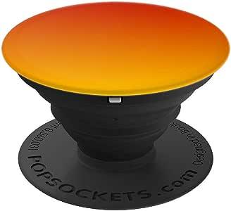 可爱的红色日落渐变美学渐变色黄色 红色 PopSockets 手机和平板电脑握架260027  黑色