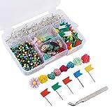 推销销套装,7 种款式和各种颜色的拇指套,适合办公或软木板装饰,680 支装