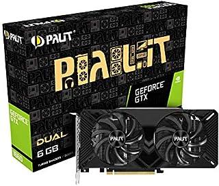 Palit GeForce GTX 1660 双 6 GB GDDR5 显卡,DisplayPort,HDMI,双链接 DVI-D,双风扇设计