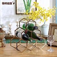 橡树庄园 布鲁克欧式合金红酒架摆件创意葡萄酒架金属展示架家用酒瓶架客厅酒窖酒架子装饰品