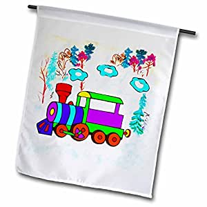 儿童 Stuff–儿童 chootrain–旗帜 12 x 18 inch Garden Flag