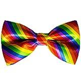 彩虹Pride 条纹蝴蝶结 - 手工小狗或猫手工制作领结,包括领口 LGBT rainbow 大
