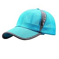 女式男式快干网状棒球帽夏季凉爽透气轻质防紫外线*帽可调节后扣网球高尔夫钓鱼跑步骑行太阳帽遮阳帽帽