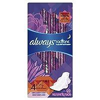 Always Radiant护翼夜用卫生巾, 清香型, 22 片/包, (3包装)