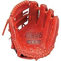 ZETT 少年棒球 软式 手套(手套) 大英雄 全能用 右投用 尺寸:S(适合身高120~135厘米) BJGB72010