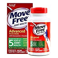 Schiff Move free旭福维骨力氨糖软骨素加MSM绿瓶运动版 120粒(美国品牌) 包税包邮