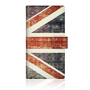 CaseMarket ARROWS NX (F-02G) 手册式 原创设计 细长 壳 [ 英国国旗 收藏 大 复古 UK 1927 日记本式 ]