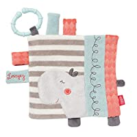 FEHN 小馬浴巾 河馬 帶環 / 活動拉手巾 用于掛起具有吸引力的結構,可產生抓握和聲音 – 適合0個月以上寶寶和幼兒 多色