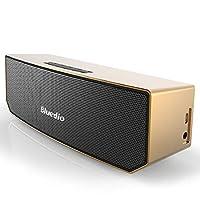 Bluedio BS-3 (骆驼) 便携式蓝牙音箱 革命性的3D钕磁铁结构/超大的52mm 驱动单元/丰富低音效果的无线音响/业界出色的3D立体声场景音效 礼品级零售包装(金色)
