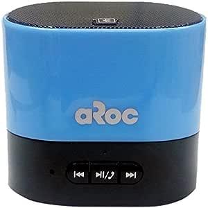 Aroc Electronics BTS-600BLUE Bluetooth Portable Speaker and Hands Free Speakerphone, Blue