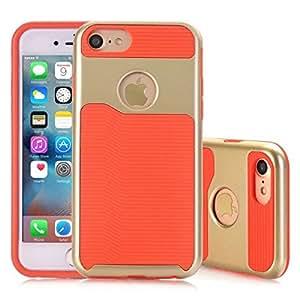 iPhone 7 手机壳,Topratesell 混合双层防护手机壳,适用于 iPhone 7(4.7 英寸) 橙色