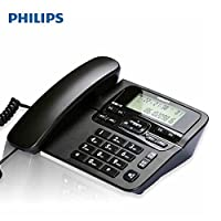 PHILIPS 飞利浦 CORD118(黑色) 商务型 家用 电话机 免提 座机 电话 办公 固定电话机 德邦/顺丰发货 默认开电子发票 可开专票
