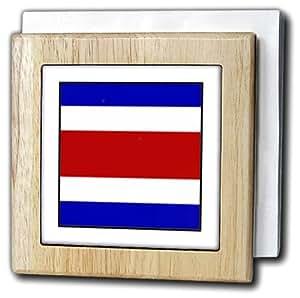 "3dRose nh_80942_1 ""哥斯达黎加国旗按钮照片""餐巾架,15.24 cm"