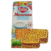 甜蜜农庄 俄罗斯进口 饼干 270g*4袋 休闲零食 (酸奶油饼干)