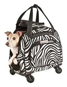 Snoozer Cooper Four-Wheeled Pet Bag 斑马纹/黑色 均码