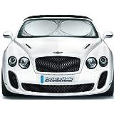 优质汽车遮阳罩 - 免费魔法毛巾砖 - 此设计*厚的优质材料 - 2 种尺寸*适合用于汽车、SUV 和卡车 - 前挡风玻璃罩 - 窗遮阳板 - 自动* - 遮阳板 - 遮阳板 - 汽车遮阳罩 - * 无风险(大号/超大) Large (63in x 31.5in) 银色 Pro_tecta-Shade_Large