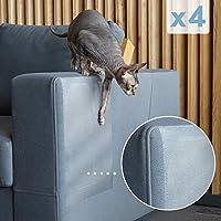 PETFECT 猫咪保护垫 & 防刮家具保护罩 w/皮革*设计和紧固粘合剂 - 有效的沙发腿和角落防刮擦防污剂