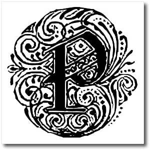 SANDY mertens monograms–Fancy 字母 P–熨烫热转印