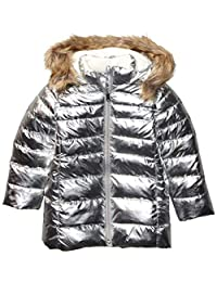 亚马逊品牌 - 斑点斑马女孩幼童和儿童长款羽绒服