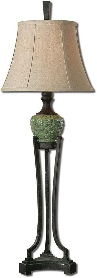 Uttermost 29316 Benevello Lamp, Crackled Green Ceramic