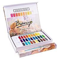 Bianyo 专业水彩套装 - 30 色-2 件装艺术颜料套装,带水彩纸,艺术家画笔 30 Colors