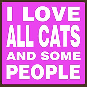 My Wors! I Love All Cats - 5.5 x 5.5 木质积木标志