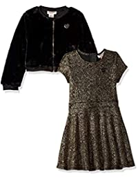 Juicy Couture 女童 2 件套连衣裙套装 Gold Print/Black 3T