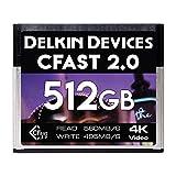Delkin 128GB Cinema CFast 2.0 存储卡 (DDCFST560128) 512GB