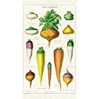 Cavallini Papers & Co. 复古蔬菜棉茶毛巾