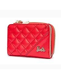 barbie 芭比 职场系列 女式 菱格按扣OL通勤短款钱包 BBPSPTAI075 (供应商直送)