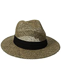San diego hat CO. 男式海草巴拿马绅士帽和布 BAND