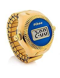 Pikoo:中性款数字戒指手表 w/日本制造机芯,均码适合所有人 - 霜蓝色