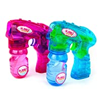 Boley 发光气泡枪 - 2 件装气泡枪 适合儿童和幼儿 - 气泡吹枪 男孩和女孩