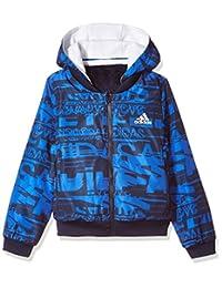 adidas Kids 阿迪达斯 大童梭织夹克 女童 风衣 CE8249 学院藏青蓝/白 YG FL REV JKT
