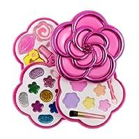 Liberty 进口 小女孩化妆品玩具套装 — 可洗* — 公主真化妆包带盒 — 儿童理想礼物 玫瑰红 粉红色