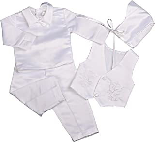 Dressy Daisy 男婴洗礼套装连身衣 长袖 4 件
